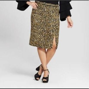 Who What Wear size 18W Cheetah Print Skirt